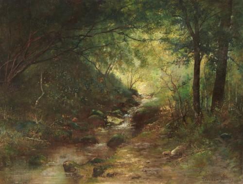 Auguste Prévot-Valeri (1857-1930) - Le fond du rû in Villiers-sur-Morin
