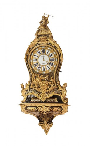 Louis XV period cartel Signed Autray in Paris