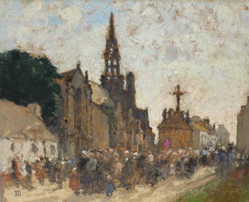 Louis Marie DESIRÉ-LUCAS (1869-1949) -  Le Pardon de Confort, circa 1909.