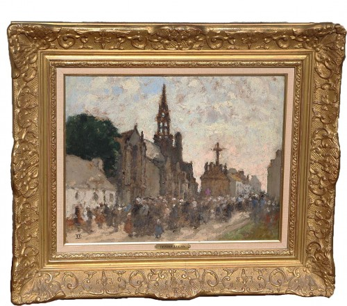 Louis Marie DESIRÉ-LUCAS (1869-1949) -  Le Pardon de Confort, circa 1909.  - Paintings & Drawings Style
