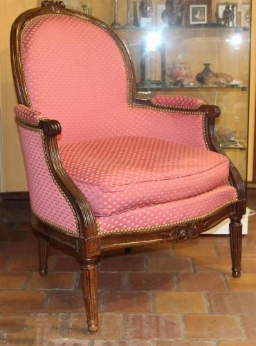 Pair of large bergères  - Seating Style Louis XVI