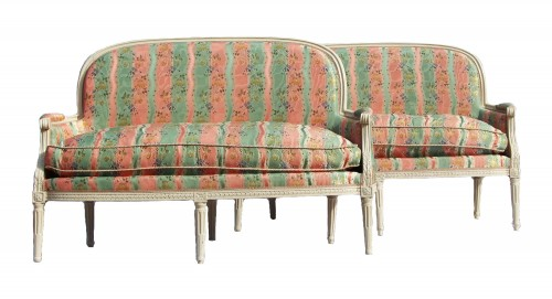 Pair of Louis XVI basket sofas