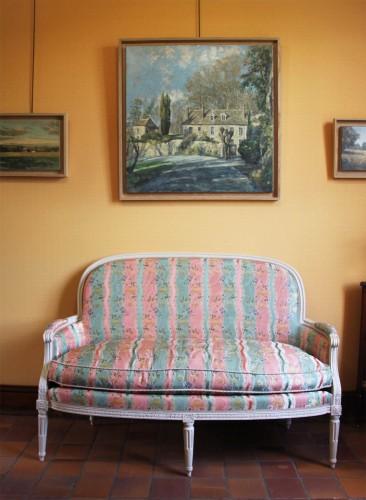 Pair of Louis XVI basket sofas - Seating Style Louis XVI