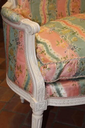 Pair of Louis XVI basket sofas -