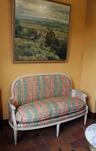 Pair of Louis XVI basket sofas - Louis XVI
