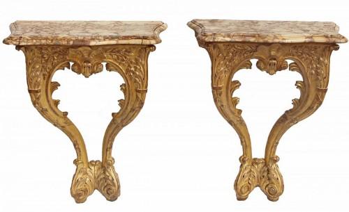 Pair Of Louis XV Period Consoles
