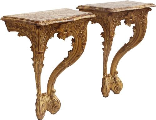 Furniture  - Pair Of Louis XV Period Consoles