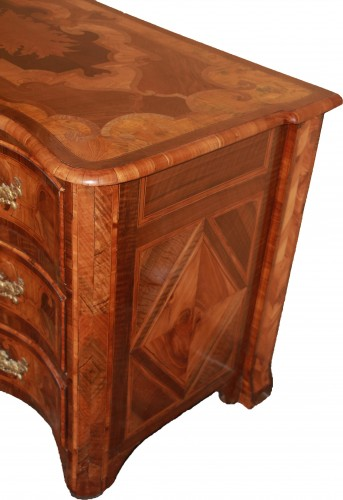 """Furniture  - Louis XIV period """"Dauphinoise"""" chest of drawers,"""