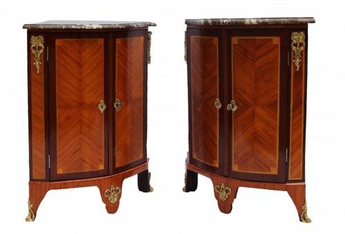 Pair Of Louis XVI Corner Cabinets