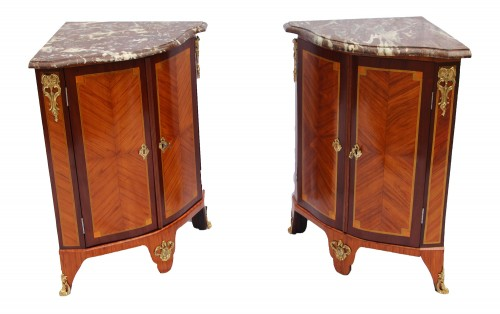 Pair Of Louis XVI Corner Cabinets - Furniture Style Louis XVI
