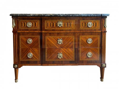 Louis XVI period chest , Stamped  by Jean-Baptiste Courte