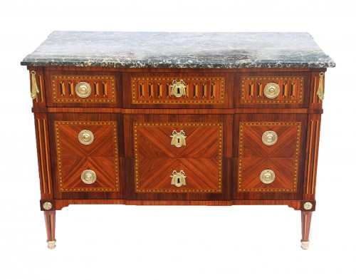 18th century - Louis XVI period chest , Stamped  by Jean-Baptiste Courte