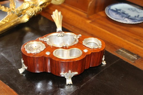 Large Louis XV inkwell in a polylobed shape - Decorative Objects Style Louis XV