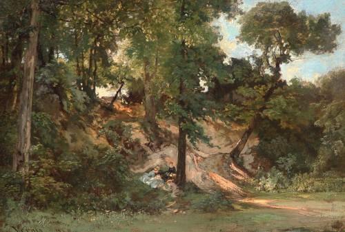 Animated undergrowth - Alexandre-René VERON (1826-1897)
