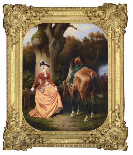 Ange-Louis JANET-LANGE - The Amazon, Portrait of Madame de C ...