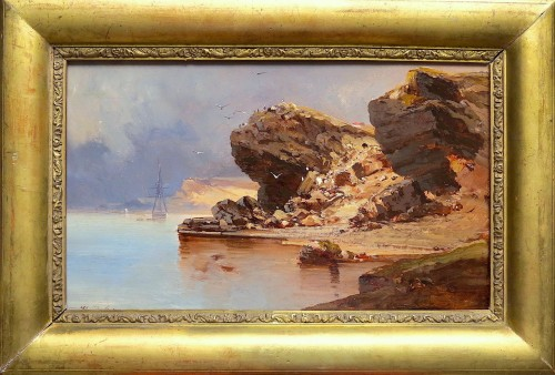Jean-Baptiste Henri DURAND-BRAGER (1814-1879) - Rocca San Nicola, Sicily