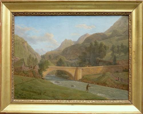 Alexandre Millin Du Perreux - View of the bridge of Saint Sauveur-les-bains