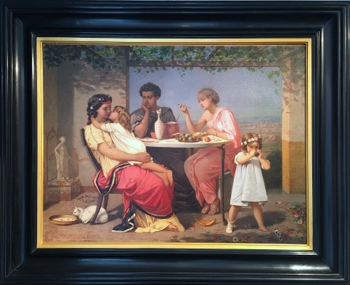 Auguste TOULMOUCHE (1829-1890) - Scene of family life during Antiquity