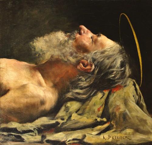 Henri DETURCK - Study head - Paintings & Drawings Style Art nouveau