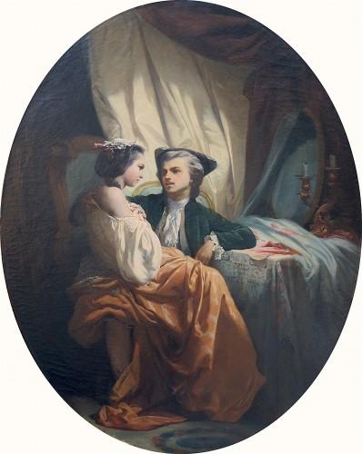 Jules Alexandre DUVAL-LECAMUS - A tête-à-tête - Paintings & Drawings Style Napoléon III