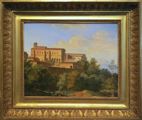 Joseph August KNIP - View of an abbey in Italy