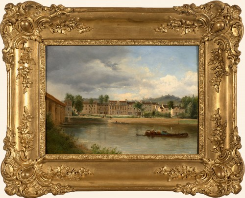 Justin OUVRIE (1806-1879) - Banks of the Seine at Argenteuil