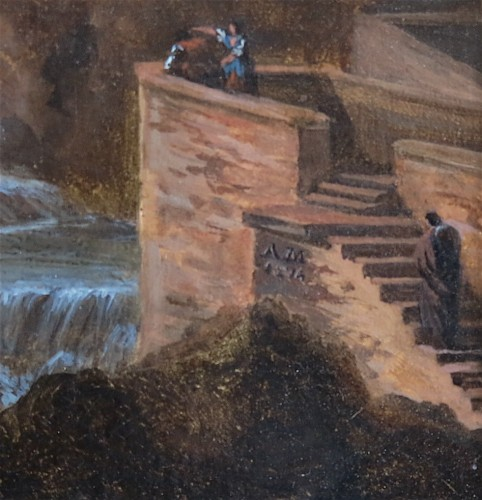 Pierre Antoine MARCHAIS (1763-1859), attributed to - Tivoli waterfall - Paintings & Drawings Style Empire