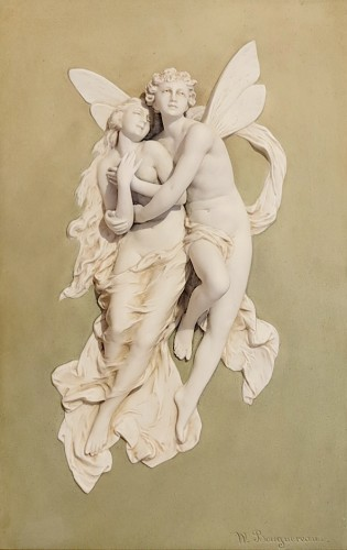 Porcelain & Faience  - William Adolphe BOUGUEREAU (1825-1905) - Psyche and Love - Pair of biscuits