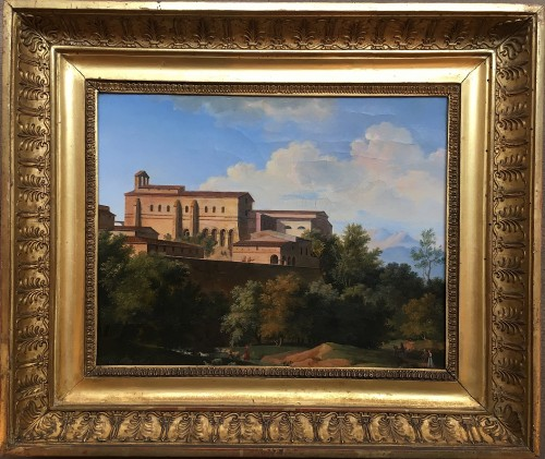 BOURGEOIS du CASTELET, attributed to -View of monastery in Marino,near Rome