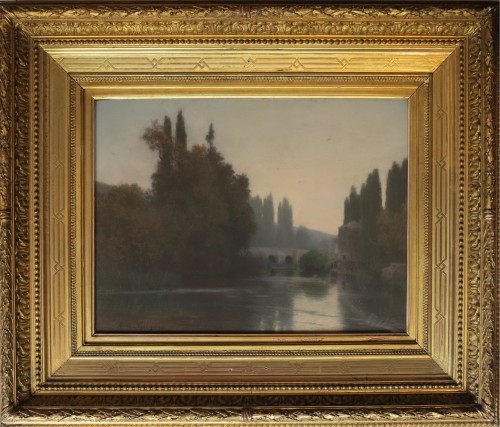 Alfred de CURZON - Riverbanks of the Clain, ruins of the castle in Poitiers