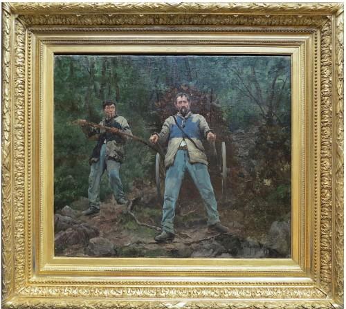 Honoré UMBRICHT (1860-1943) - Schlitteurs in the Vosges