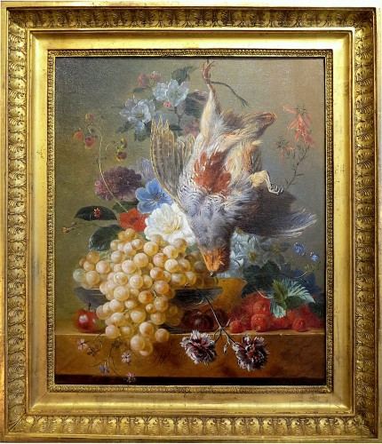 Georgius Jacobus van Os (1782-1861) - Fruits, flowers and gray partridge