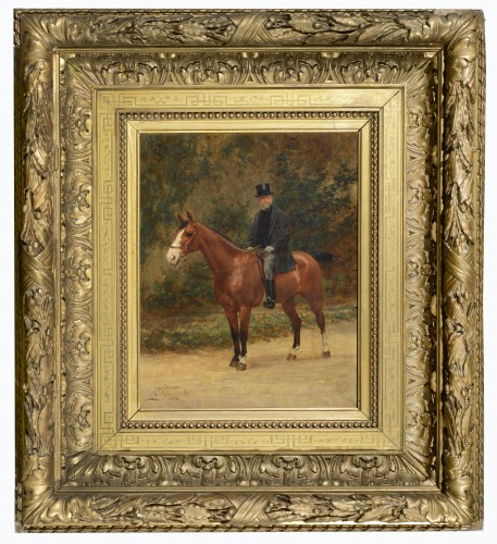 Jean Richard GOUBIE (1842-1899) - Portrait of a man on horseback