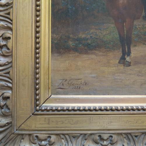 Paintings & Drawings  - Jean Richard GOUBIE (1842-1899) - Portrait of a man on horseback