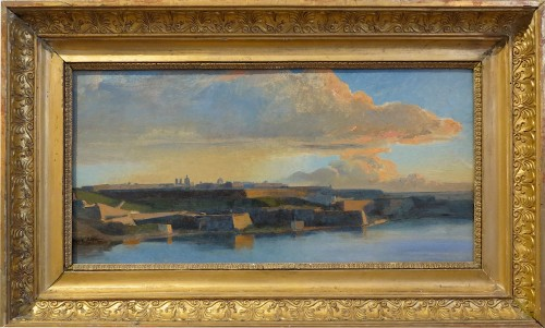 Theodore Gudin, attributed to - View of Valletta fortifications in Malta