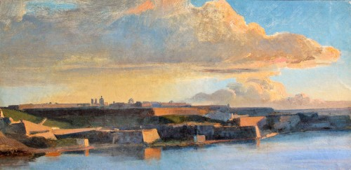 Theodore Gudin, attributed to - View of Valletta fortifications in Malta - Paintings & Drawings Style Louis-Philippe