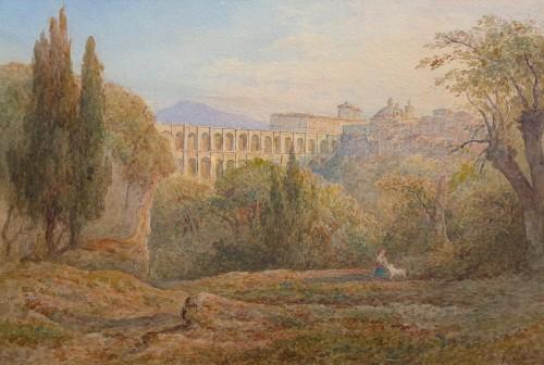 View of Ariccia, Italy - Rudolf Müller (1802-1885)