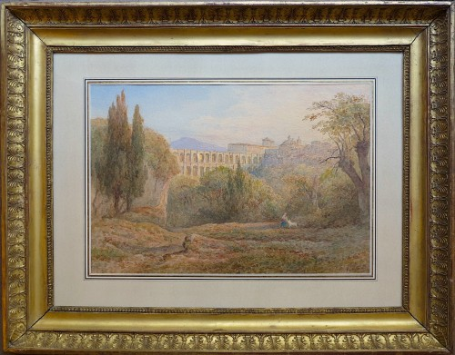 View of Ariccia, Italy - Rudolf Müller (1802-1885)  - Paintings & Drawings Style