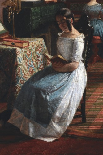 Circle of GRANDPIERRE-DEVERZY (1798-1869) - Female artists at work -