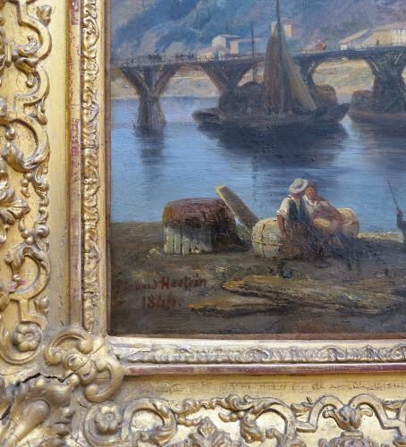 Paintings & Drawings  - Edouard HOSTEIN (1804-1889) - Lyon, le lazaret de la Quarantaine