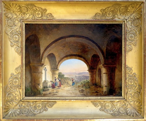 Charles Caïus RENOUX (1795 – 1846) - The pilgrimage under the crypt