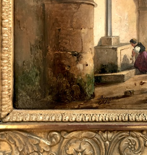 Paintings & Drawings  - Charles Caïus RENOUX (1795 – 1846) - The pilgrimage under the crypt