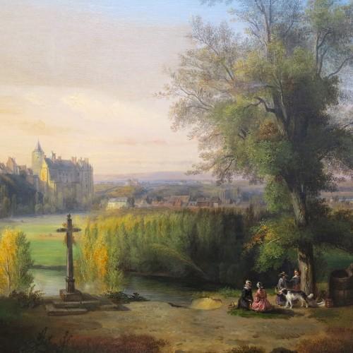 François-Edme RICOIS (1795-1881) - View of the Châteaudun castle -