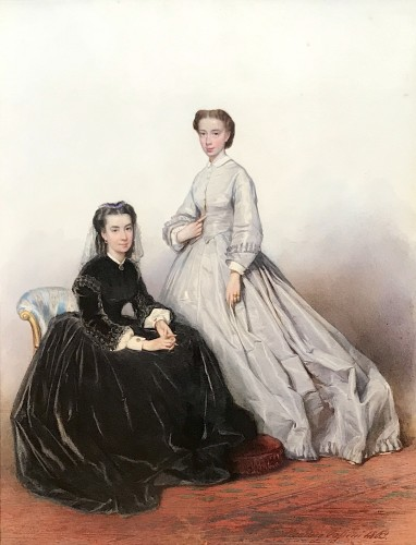 Ludwig PASSINI (1832–1903) - Princess ROSPIGLIOSI and Baroness BAUDE - Paintings & Drawings Style Napoléon III