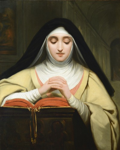 Raymond-Auguste-Quinsac MONVOISIN (1790-1870) - St. Therese - Paintings & Drawings Style Louis-Philippe