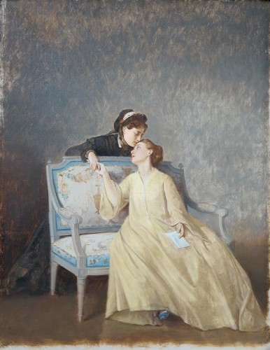 Auguste TOULMOUCHE (1829 – 1890) - The letter - Paintings & Drawings Style Napoléon III