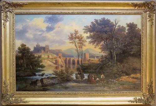 Joseph LATOUR(1806–1863)-St. Martin Bridge, Toledo and Cathedral of Ségovia