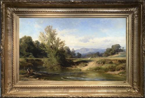 Achille BENOUVILLE (1815–1891) - The Teverone at Lunghezza ; near Rome