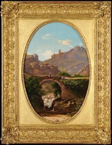 Antoine Claude PONTHUS-CINIER (1812- 1885) - Panorama of Malleval, Loire
