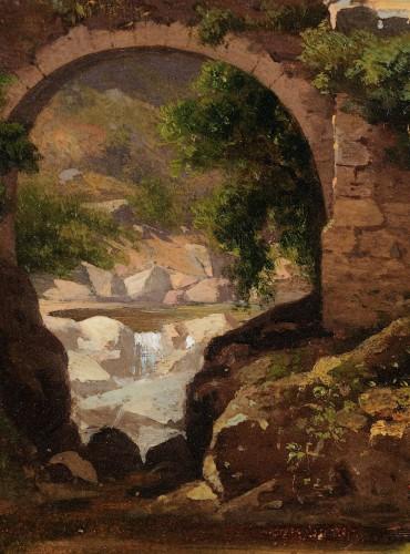 19th century - Antoine Claude PONTHUS-CINIER (1812- 1885) - Panorama of Malleval, Loire